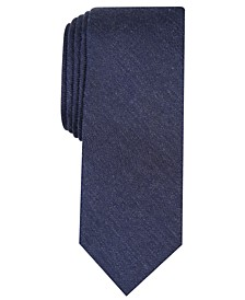 Men's Dunbar Solid Skinny Tie, Created for Macy's