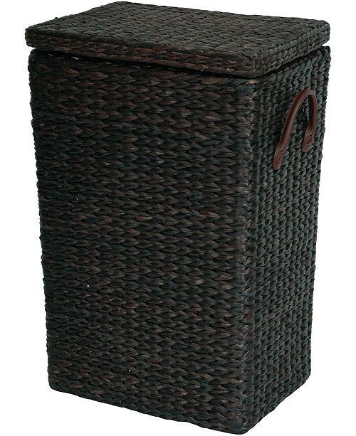 Red Lantern Rush Grass Laundry Basket