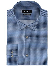 Men's Slim-Fit Performance Active Stretch Check Dress Shirt
