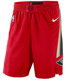 Nike Big Boys New Orleans Pelicans Statement Swingman Shorts