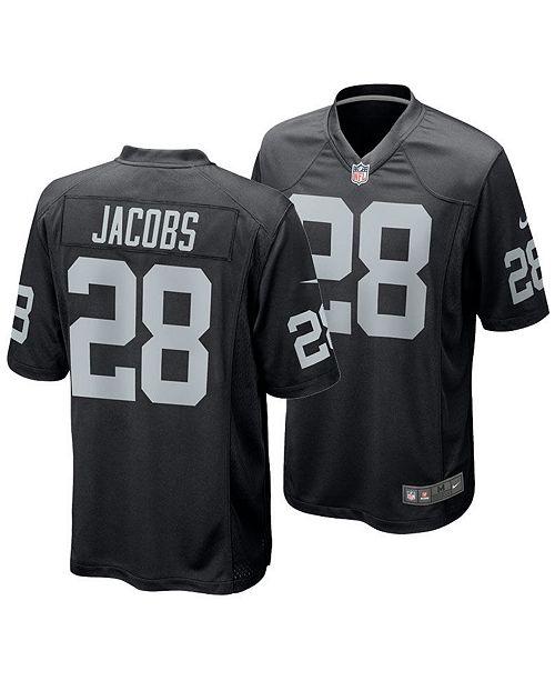 Nike Men's Josh Jacobs Oakland Raiders Game Jersey