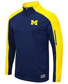 Men's Michigan Wolverines Promo Quarter-Zip Pullover