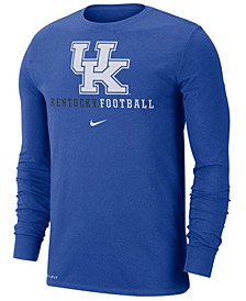 Men's Kentucky Wildcats Football Wordmark Long Sleeve T-Shirt