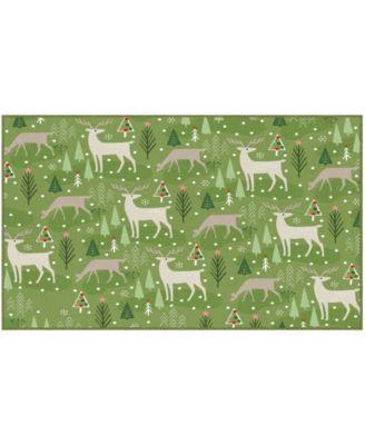 Reindeer Flurries Accent Rug, 30