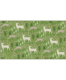 Reindeer Flurries Accent Rugs