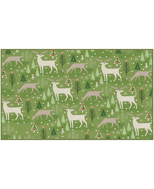 """Mohawk Reindeer Flurries Accent Rug, 30"""" x 50"""""""