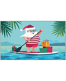 Paddleboard Santa Accent Rugs