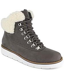 Wisdom Fur-Collar Hiker Booties