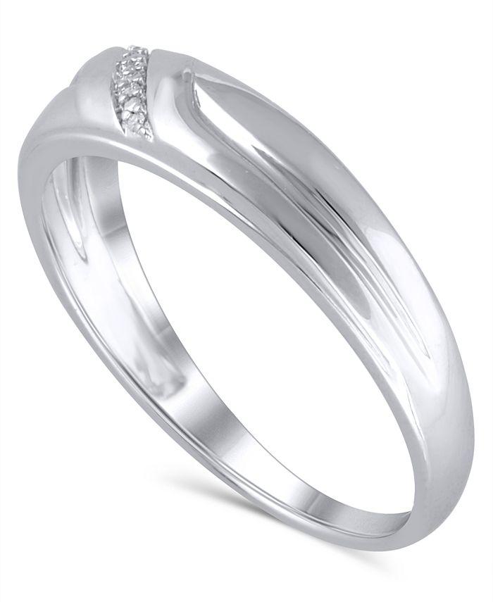 Macy's - Men's Certified Diamond Accent in 14K White Gold