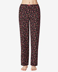 Floral Knit Pajama Pants, Online Only