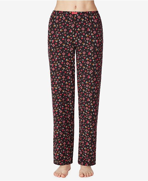 Ellen Tracy Floral Knit Pajama Pants, Online Only