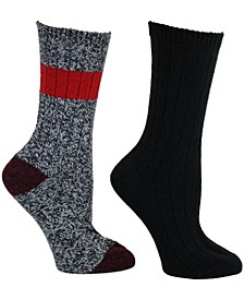 Women's 2 Pack Soft Marled Boot Sock, Online Only