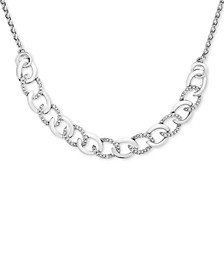 Diamond Chain Link Adjustable Bolo Necklace (1/10 ct. t.w.) in Sterling Silver