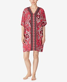 Paisley Knit Short Caftan, Online Only