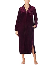 Velvet Zip-Up Caftan