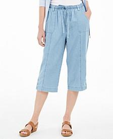 Cotton Denim Capri Pull-On Jeans, Created for Macy's