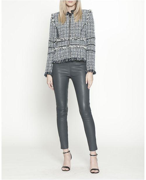 Walter Baker Navy Tweed Chanel Jacket