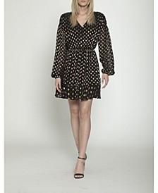 Polka Dot Fit and Flare Mini Dress