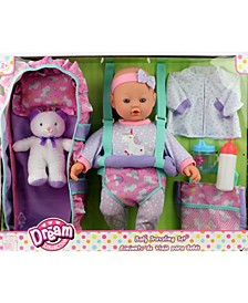 "16"" Baby Doll Travelling Set"