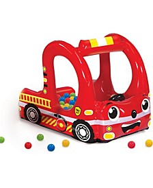 Rescue Fire Truck Play Center Inflatable Ball Pit -Includes 20 Balls