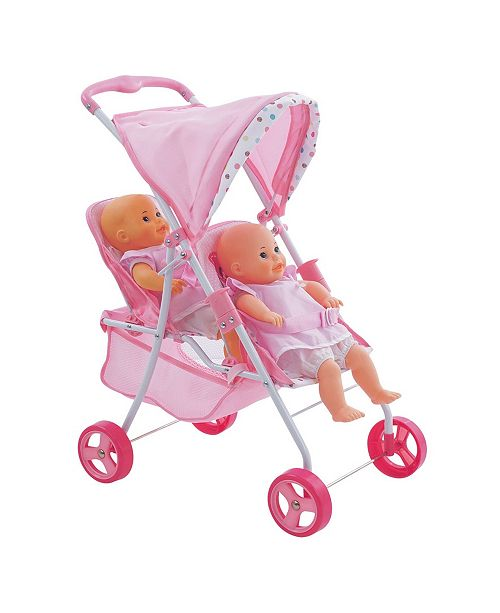 Hauck Love Heart Pretend Play Twin Baby Dolls Stroller ...