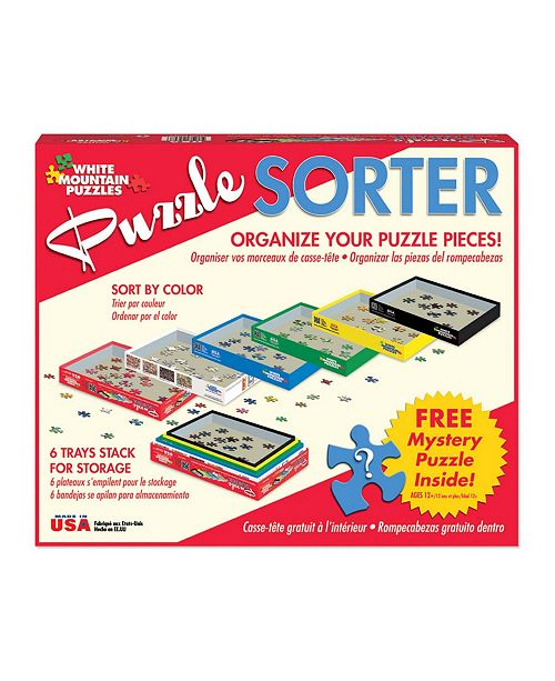 White Mountain Puzzles Puzzle Sorter and Mystery Puzzle