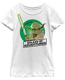 Star Wars Big Girl's Galaxy of Adventures Yoda Jedi Circle G1 Short Sleeve T-Shirt