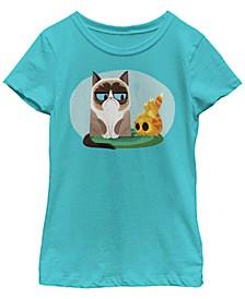 Grumpy Cat Big Girl's Mr. Grump Short Sleeve T-Shirt