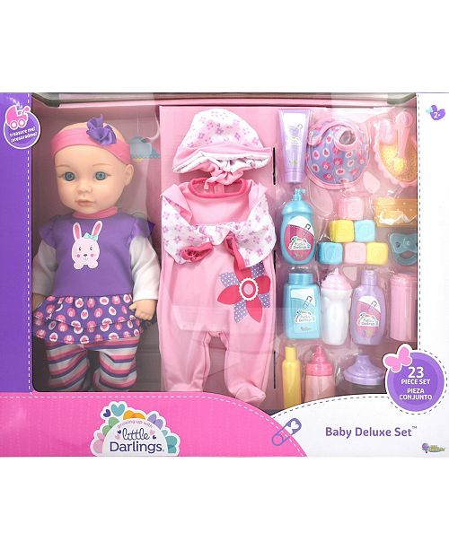 New Adventures Little Darlings Toy Baby Doll Deluxe Play Set
