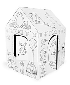 Easter Spring Cottage Cardboard Playhouse