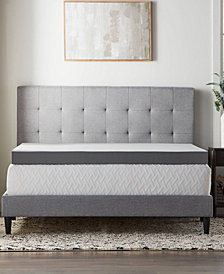 "Dream Collection by Lucid 4"" Bamboo Charcoal Memory Foam Topper Collection"
