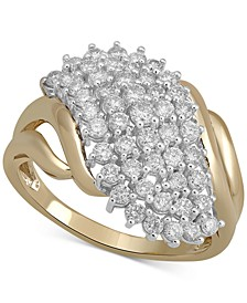 Diamond Cluster Statement Ring (1 ct. t.w.) in 10k Gold