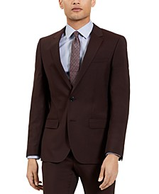 Men's Slim-Fit Red Clay Solid Suit Jacket, Created for Macy's