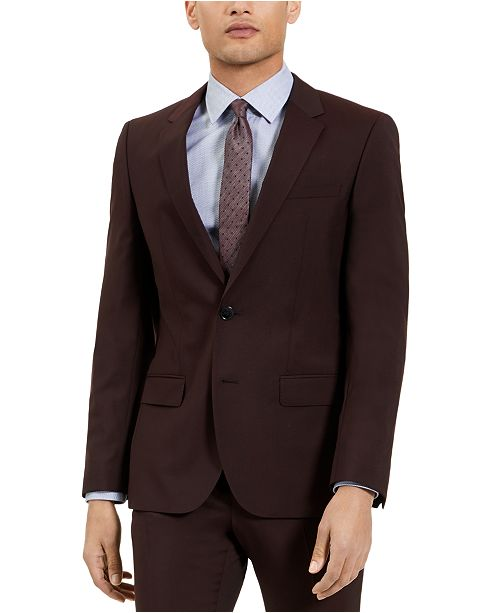 HUGO Hugo Boss Men's Slim-Fit Red Clay Solid Suit Jacket, Created For Macy's