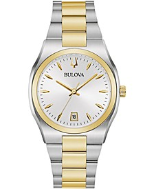 Women's Surveyor Two-Tone Stainless Steel Bracelet Watch 34mm, Created for Macy's