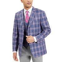 Tommy Hilfiger Mens Modern-Fit TH Flex Windowpane Sport Coat