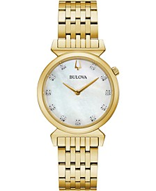 Women's Regatta Diamond-Accent Gold-Tone Stainless Steel Bracelet Watch 30mm