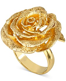 Giani Bernini Textured Rose Ring in 18k Gold-Plated Sterling Silver, Created for Macy's