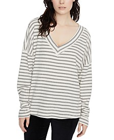 Eryka Ribbed Striped Long-Sleeved T-Shirt