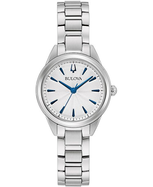 Bulova Women's Sutton Stainless Steel Bracelet Watch 28mm