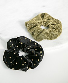 2-Pc. Velvet & Lurex Scrunchie Set