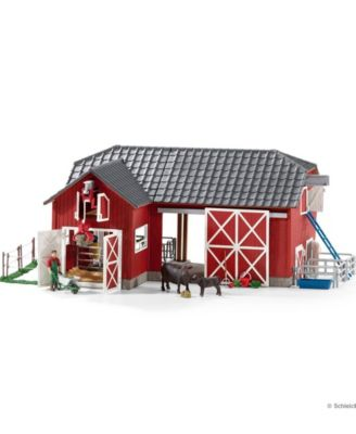 Schleich Farm World Large Barn and with Animals and Accessories Toy Figure