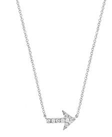 EFFY Diamond (1/8 ct.t.w.) Arrow Pendant in Sterling Silver