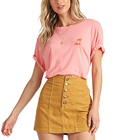 Juniors' Seams Like Cord Cotton Denim Mini Skirt