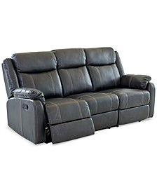 "Fleurus 81"" Fabric Reclining Sofa with Table"