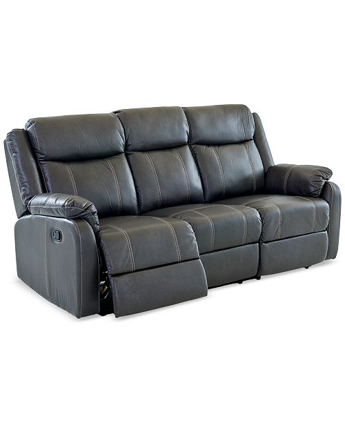 Fabric Reclining Sofa With Table