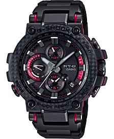 Men's Solar Black Stainless Steel Bracelet Watch 51.7mm