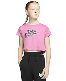 Big Girls Cotton Logo-Print Cropped T-Shirt