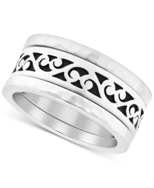 Filigree Stack-Look Statement Ring in Sterling Silver
