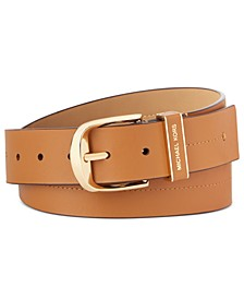 Leather Belt With Stitch Detail